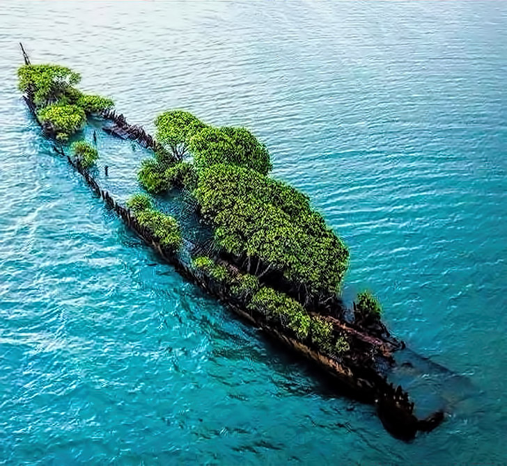 Wreck of the City of Adelaide, off Magnetic Island, Queensland, Australia