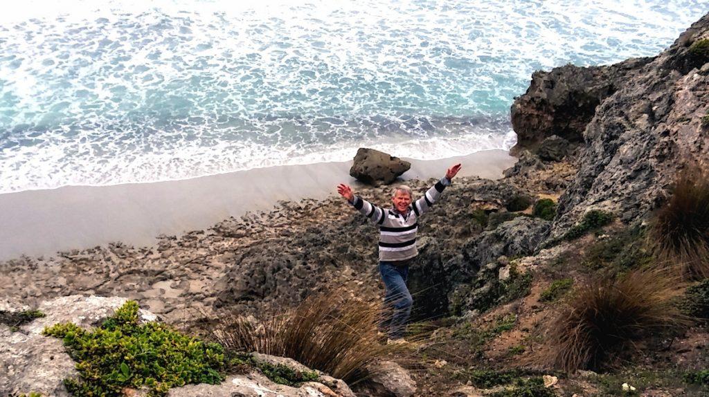 Limestone cliffs near Pennington Bay, Kangaroo Island, South Australia.