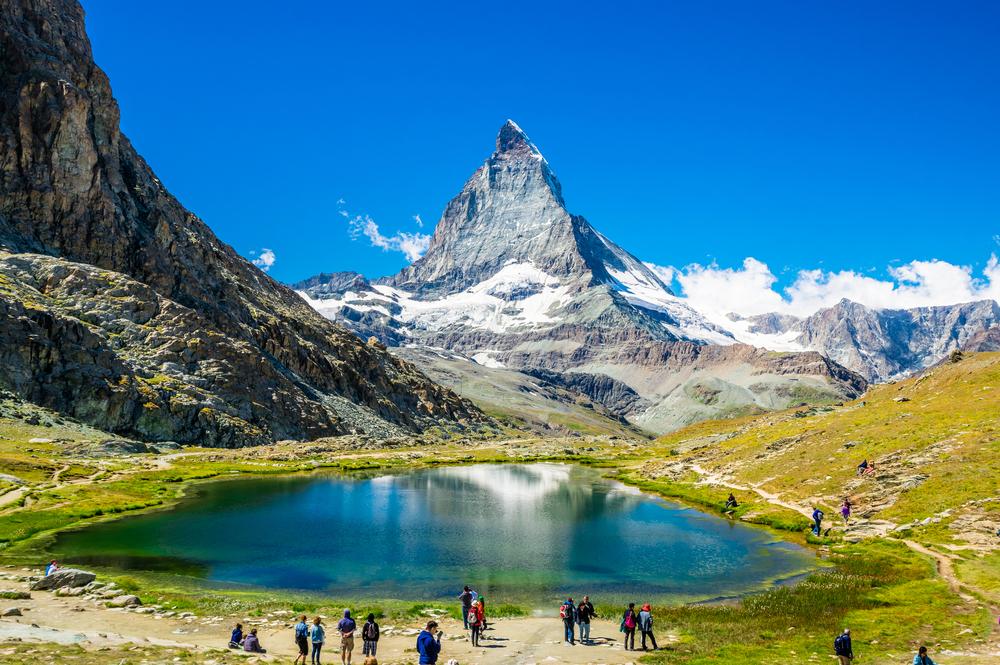 Looking towards the Matterhorn