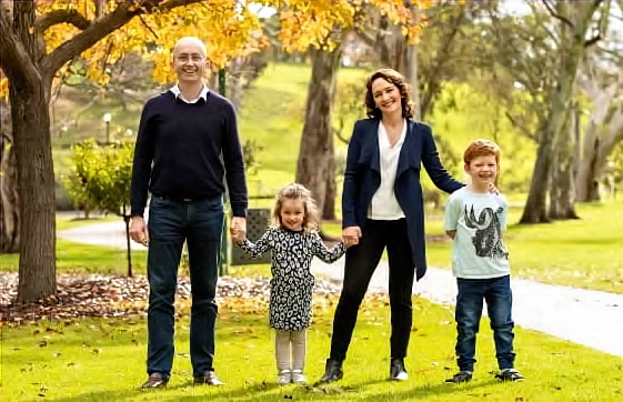 Georgina Downer and Family at Home in the Mayo Electorate