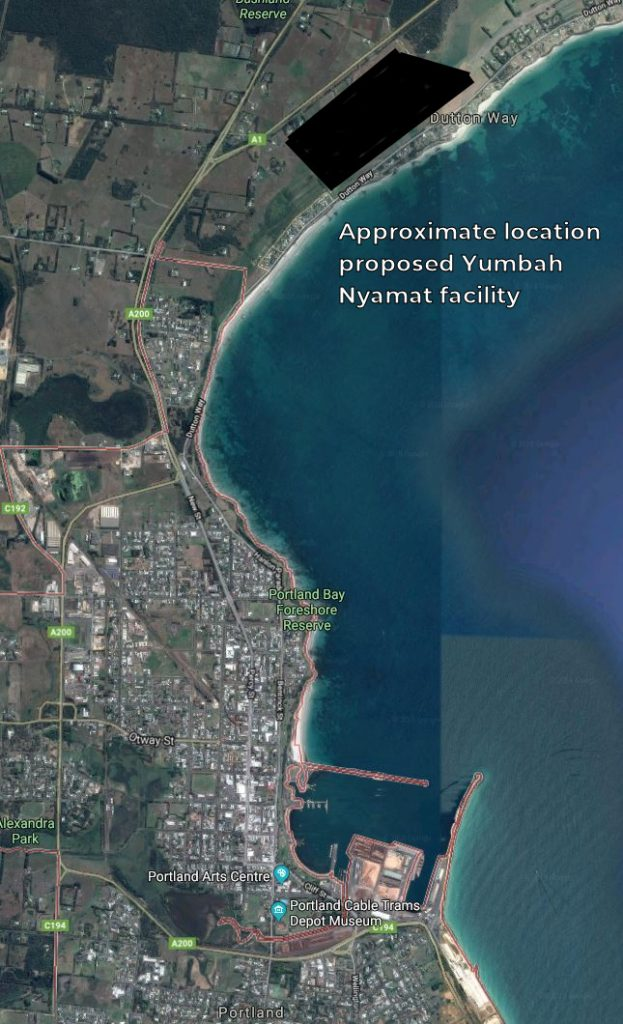 Yumbah's Proposed New Aquaculture Facility Adjacent to the Jetties at Portland